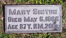 Mary <I>McDonnell</I> Sinton