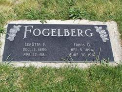 Clara LeaOtta <I>Frazier</I> Fogelberg