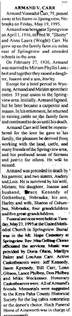 Armand Vanosdol Carr