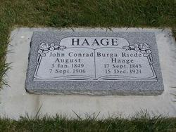 John Conrad <I>August</I> Haage