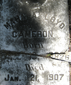 Mahala <I>Loyd</I> Cameron
