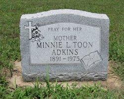 Minnie L. <I>Toon</I> Adkins