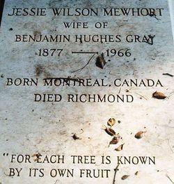 Jessie Wilson <I>Mewhort</I> Gray