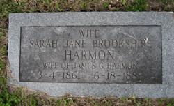 Sarah Jane <I>Brookshire</I> Harmon