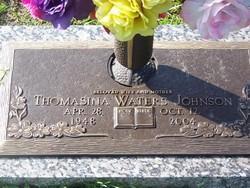 Thomasina <I>Waters</I> Johnson