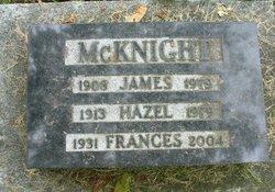 Hazel Frances <I>Thompson</I> McKnight