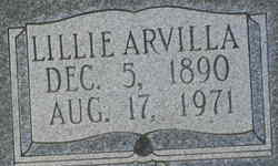 Lillie Arvilla <I>Findley</I> Wright