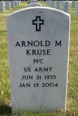 PFC Arnold M Kruse