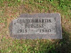 Gladys H <I>Martin</I> Burgess