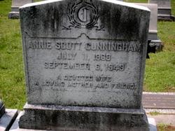 """Annie Hugh """"Nannie"""" <I>Scott</I> Cunningham"""