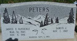 Janice E <I>Vansickle</I> Peters
