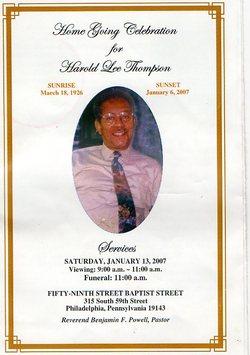 Harold L Thompson