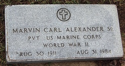 "Marvin Carl ""Mike"" Alexander, Sr"