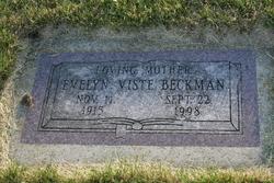 Evelyn Sophia <I>Viste Beckman</I> Vaughn