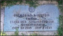 "SSGT Herbert L ""Hub"" Huish"