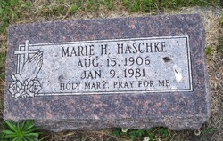 Marie H. <I>Rutten</I> Haschke