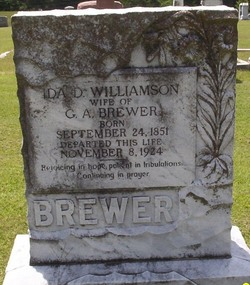 Ida D. <I>Williamson</I> Brewer