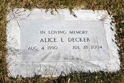Alice Lemley <I>Cloquet</I> Decker