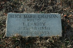 Alice Marie <I>Chapman</I> Addy