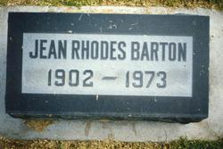 Jenny Jean <I>Rhodes</I> Barton