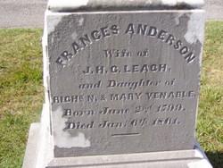 "Frances Anderson ""Fannie"" <I>Venable</I> Leach"
