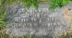 """Zelma """"Aunt Pet"""" <I>Mattocks</I> Merrell"""