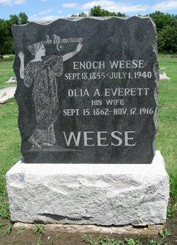 Olia A. <I>Everett</I> Weese