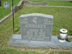 """Alice Winifred """"Winnie"""" <I>Chapman</I> Christy"""