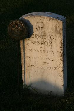 """George Bernhard """"Bernie G."""" Benson"""