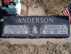 Lorraine Doris <I>Ecklund</I> Anderson