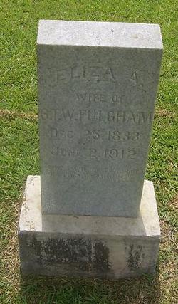 """Elizabeth A. Frances """"Eliza"""" <I>Byrd</I> Fulgham"""