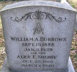Alice E <I>Sherry</I> Burrows