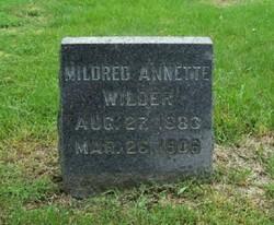 Mildred Annette <I>Wilder</I> Wilder