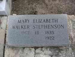 Mary Elizabeth <I>Walker</I> Stephenson