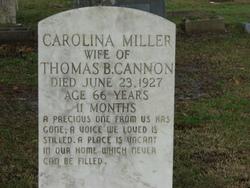 Carolina <I>Miller</I> Cannon