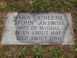 Maria Catherine <I>Spohn</I> Ambrose