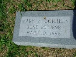 Mary Zenada <I>Coomes</I> Sorrels