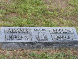 Myrtie A <I>Applin</I> Adams
