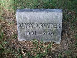 Mary Almira <I>Talkington</I> Snyder