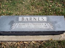 "Jeanette C. ""Nettie"" <I>Crook</I> Barnes"