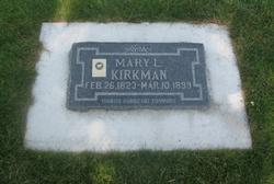 Mary <I>Lawson</I> Kirkman