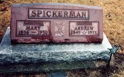 Mary E. <I>Wells</I> Spickerman