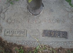 Cora Lee <I>Ware</I> Brown