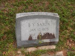 Benjamin Yancey Saxon