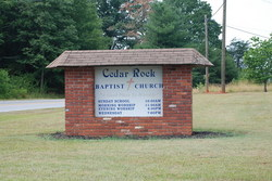 Cedar Rock Baptist Church Cemetery