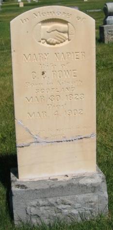 Mary <I>Napier</I> Rowe