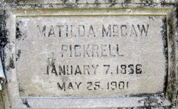 Matilda <I>McCaw</I> Pickrell