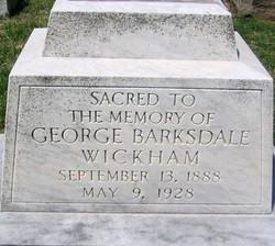 George Barksdale Wickham