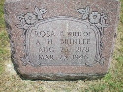 Rosa Ella <I>Roper</I> Brinlee