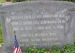 Dr Meriwether Lewis Anderson